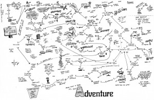 Adventure Map (1987, hand-drawn)